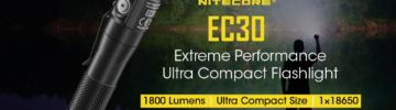 New Product Announcement: NITECORE EC30 1800 Lumen EDC Flashlight