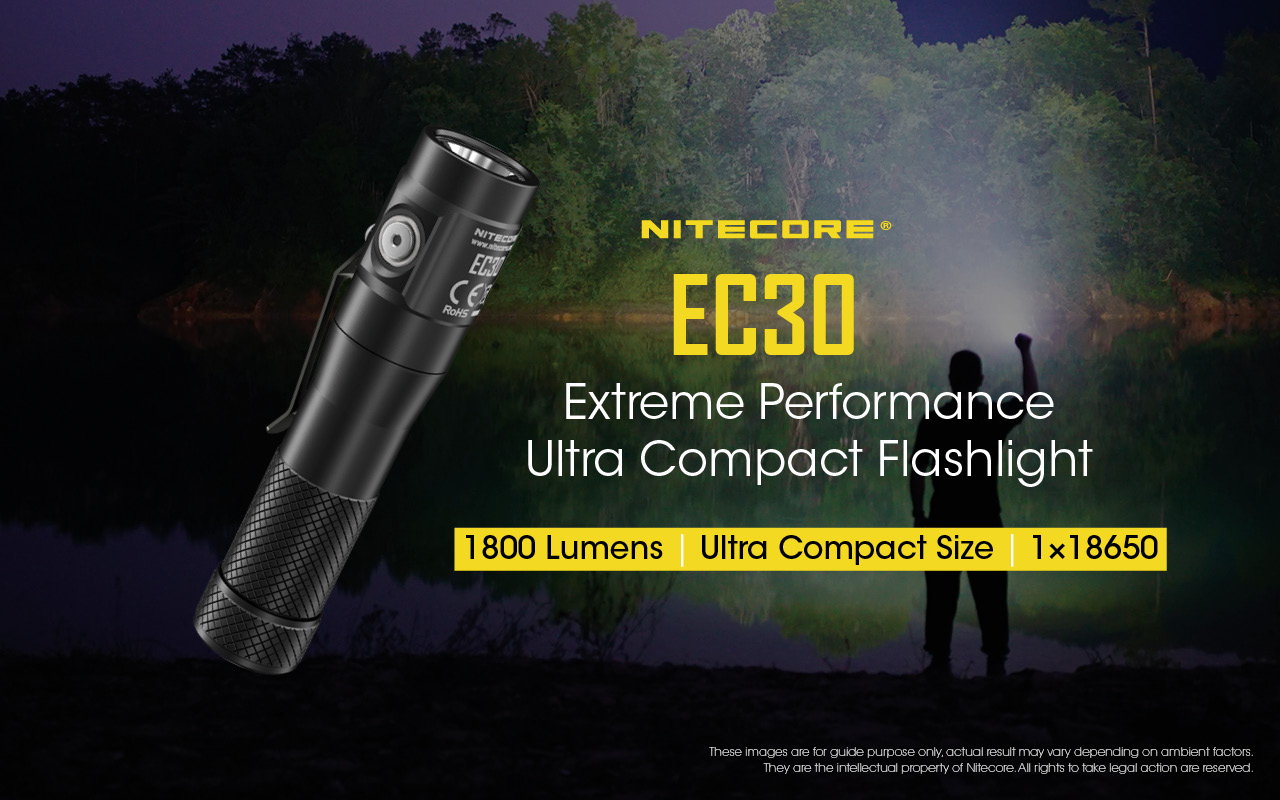 NITECORE EC30 1800 Lumen Compact Everyday Carry Flashlight