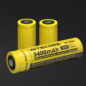 nitecore headlamp battery