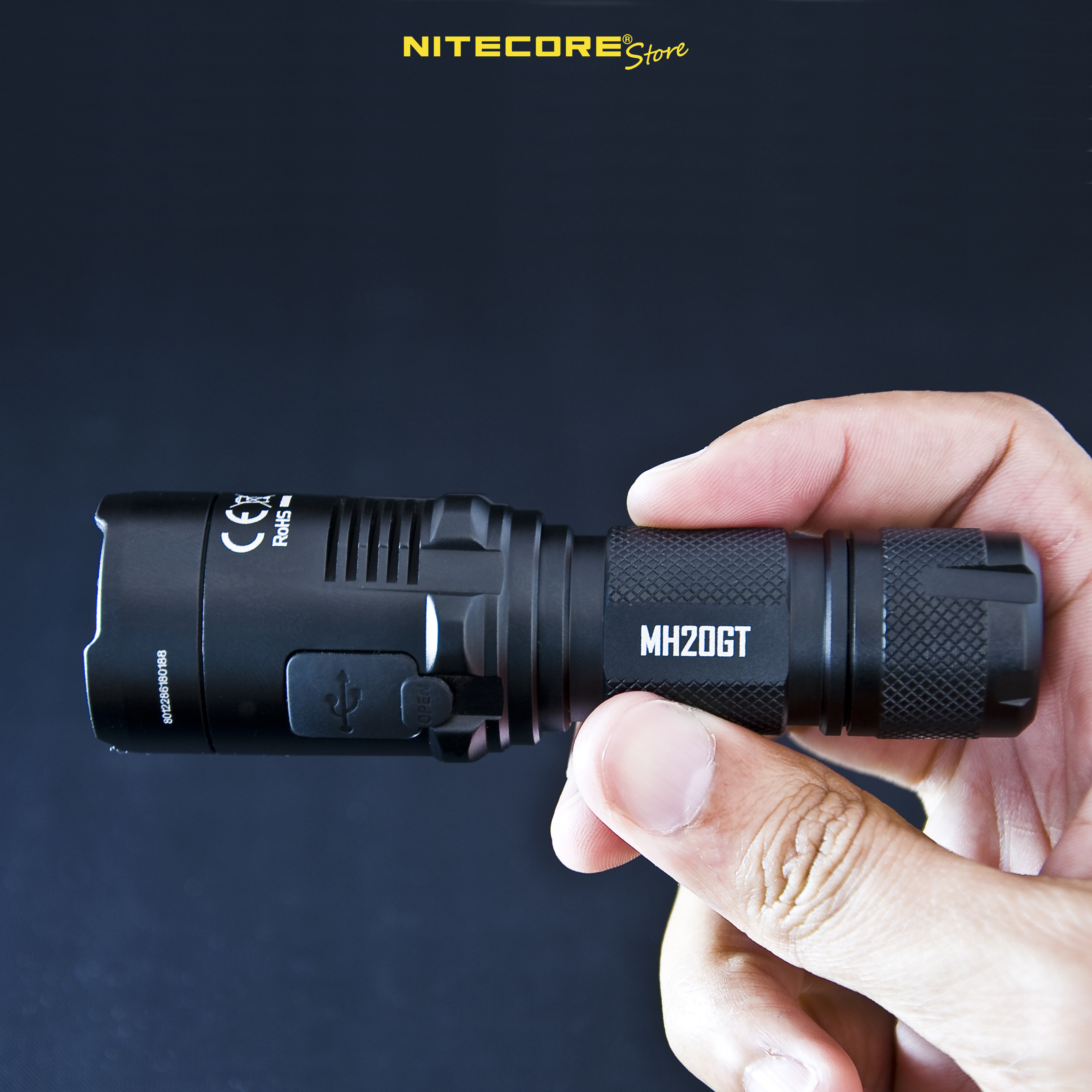 best lightweight flashlights, pocket flashlight, nitecore mh20gt