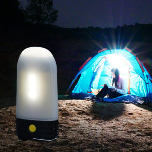 NITECORE LR50 lantern illuminating a tent
