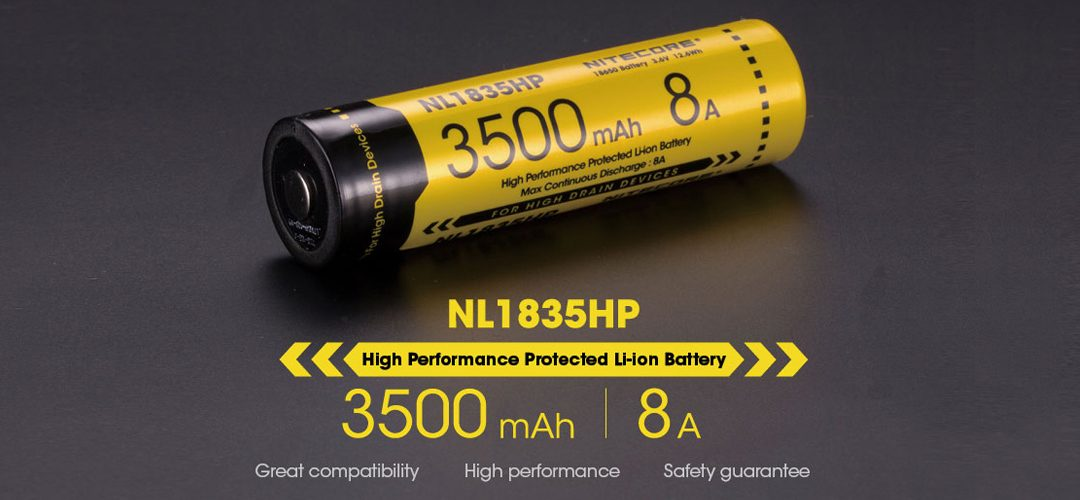 NITECORE NL1835HP 18650 button top high drain li-ion battery