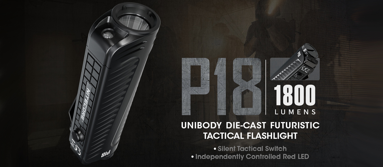 Nitecore P18 tactical flashlight