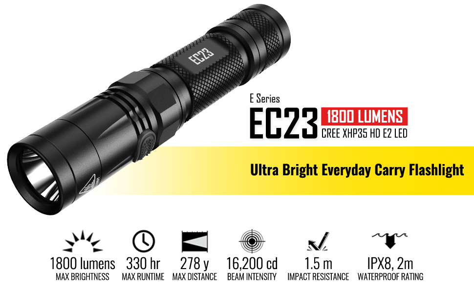 nitecore ec23 bright 1800 lumen flashlight