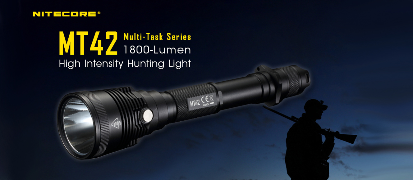 NITECORE MT42 Long Throw Hunting Flashlight
