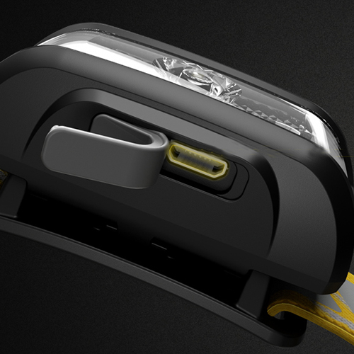NITECORE NU17 headlamp micro USB charging port