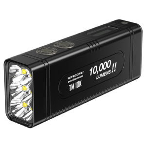 NITECORE TM10K 10000 lumen USB C rechargeable flashlight