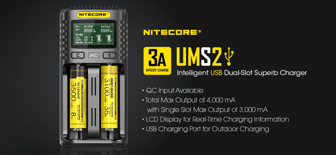 NITECORE UMS2 dual slot USB speedy charger
