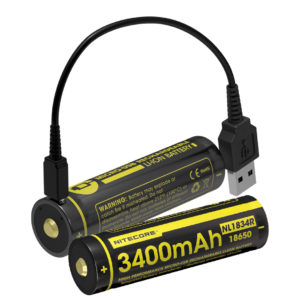 NITECORE NL1834R USB rechargeable 18650 battery edc gift idea