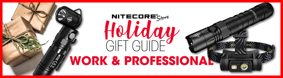 NITECORE Store Work & Professional Flashlight Holiday Gift Guide 2019