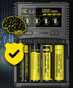 NITECORE battery charger standard features