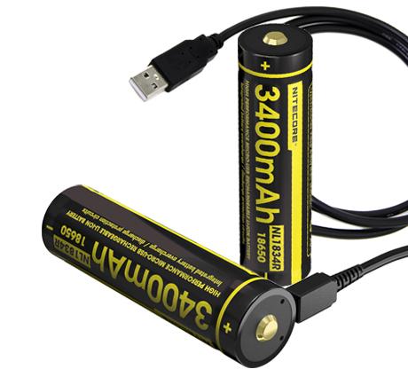 USB rechargeable li ion batteries